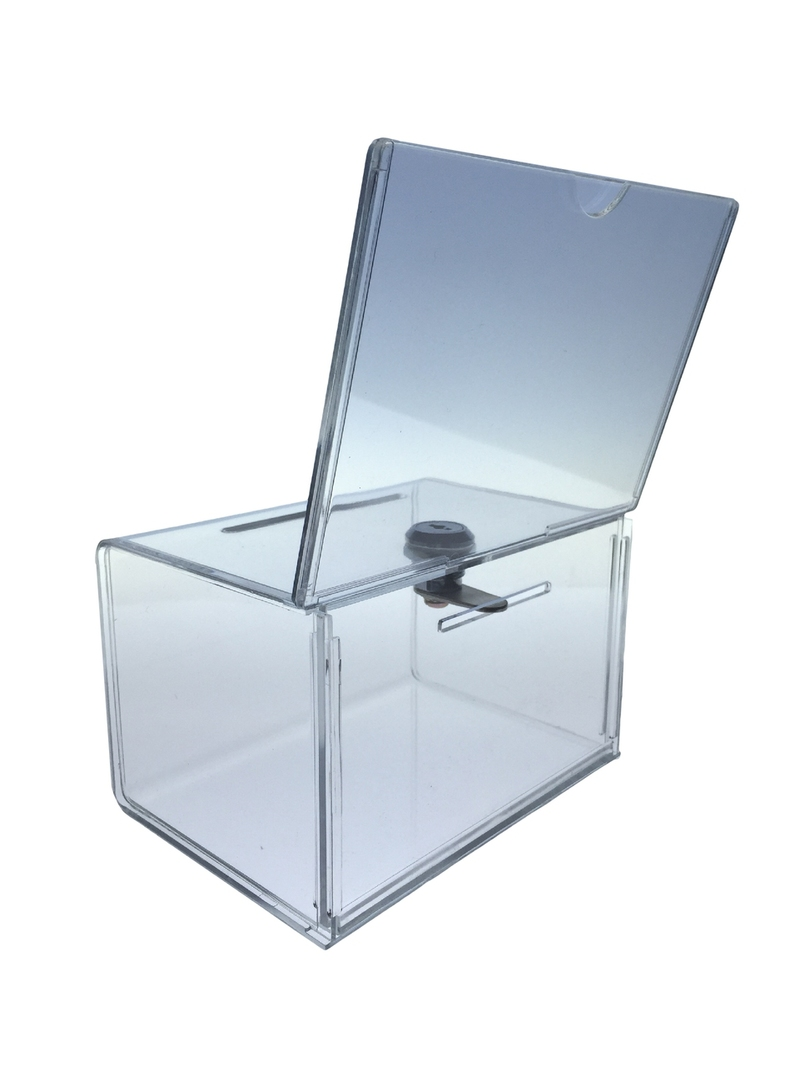 Acrylic Offering Boxes : Collection box acrylic donation